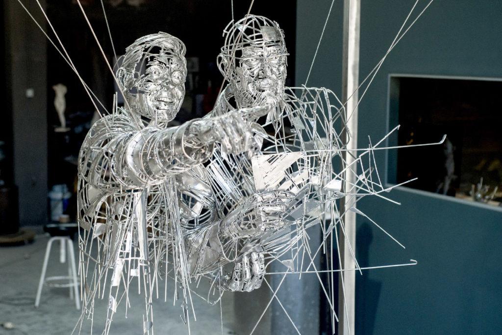 Homenaje a Carlos Martínez & Jos Galán - Escultura en Ácero | Jordi Díez