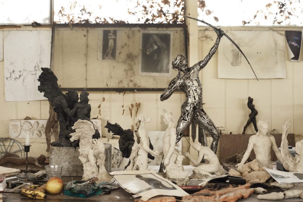 El Arquero - Escultura Figurativa en Acero | Jordi Díez Fernández