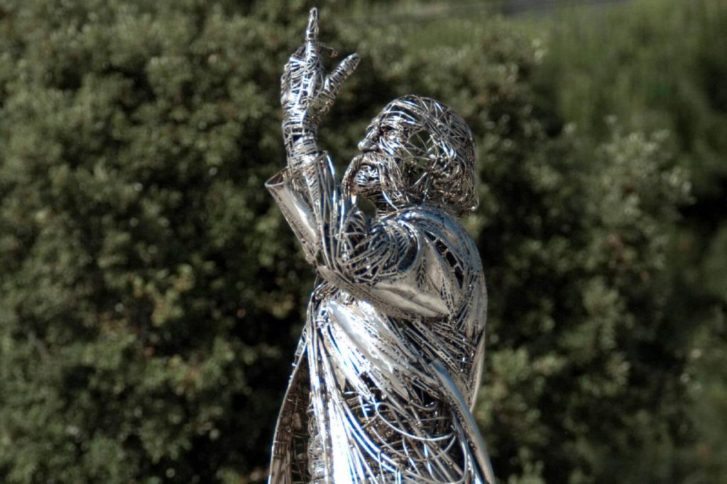 Homenaje a Ildelfons Cerdà - Escultura Monumental en Acero | Jordi Díez